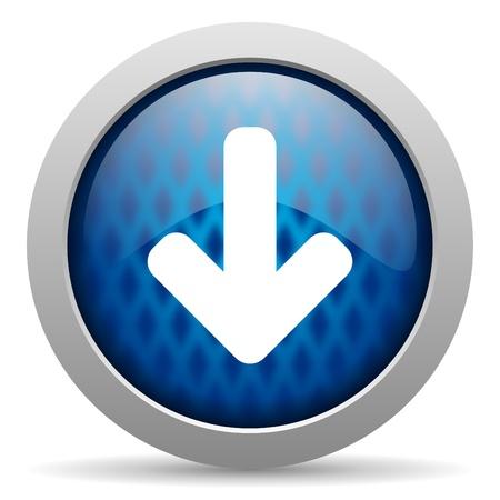 arrow down icon Stock Photo - 15308549