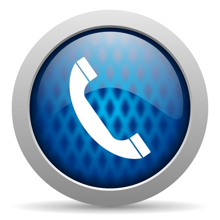 3d contact us: telephone icon Stock Photo