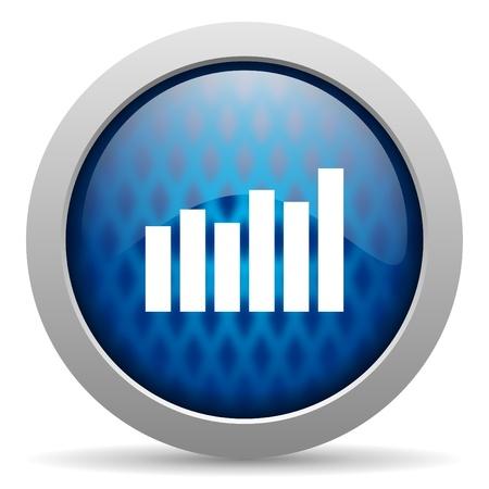 bar graph icon Stock Photo - 15308567