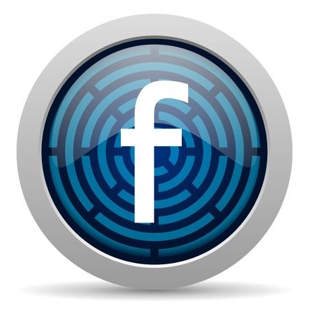 facebook icon Banque d'images