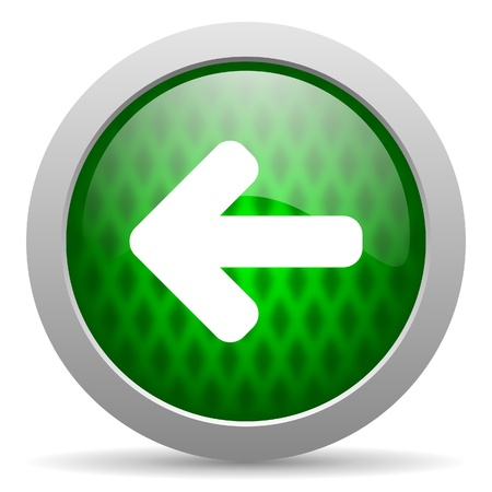 arrow left icon Stock Photo - 15417052