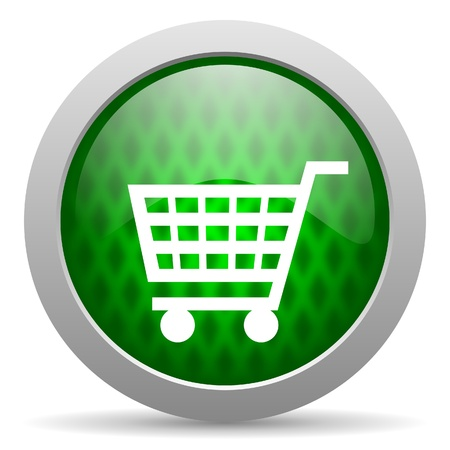 shopping cart icon Stock Photo - 15417407