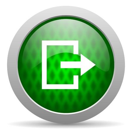 exit icon: exit icon Stock Photo