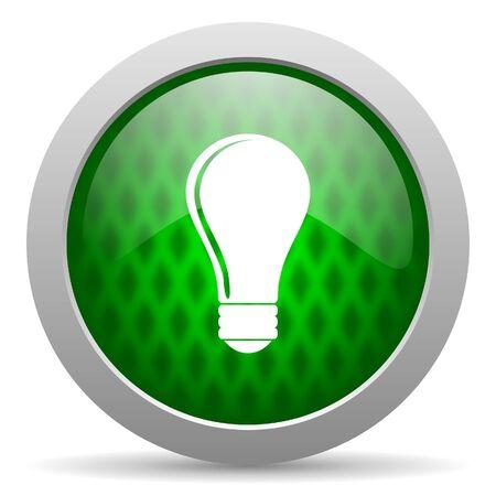 bulb icon Stock Photo - 15417276