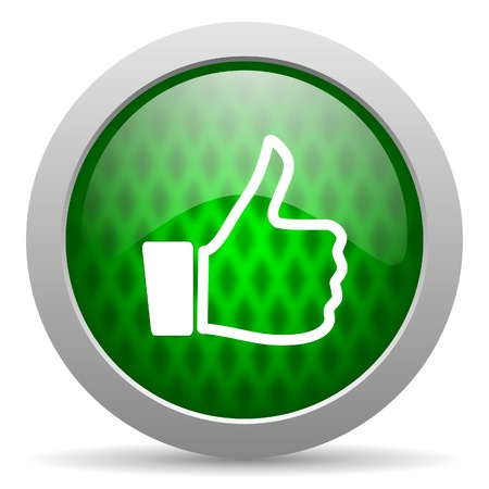 thumb up icon Stock Photo - 15417567