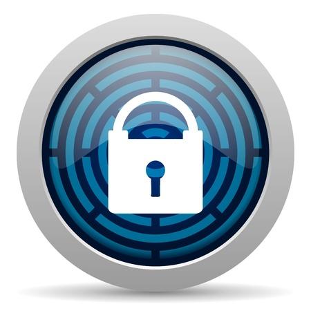 to lock: Icono de protecci�n de Foto de archivo