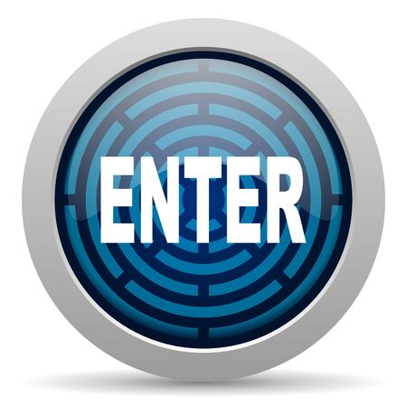 enter icon Stock Photo - 15417759