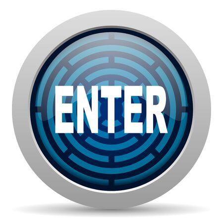 enter icon Stock Photo - 15417759