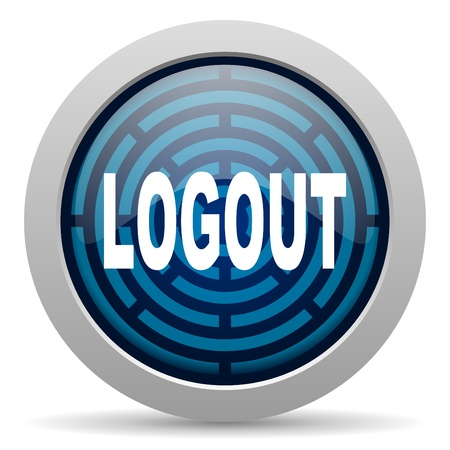 logout icon Stock Photo - 15417978
