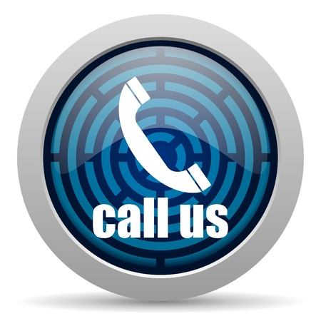 call us icon Stock Photo - 15418025