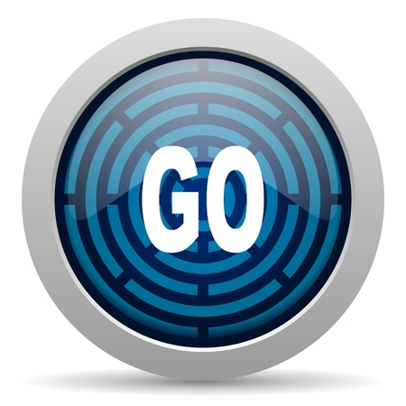 go icon Stock Photo - 15417798