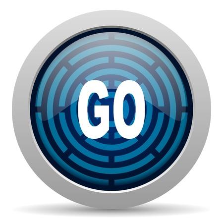 go icon Stock Photo - 15417798