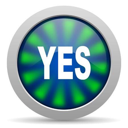 yes icon Stock Photo - 15418163