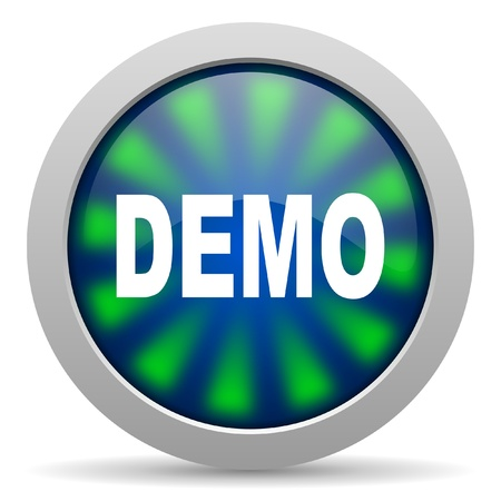 demo icon Stock Photo - 15418195