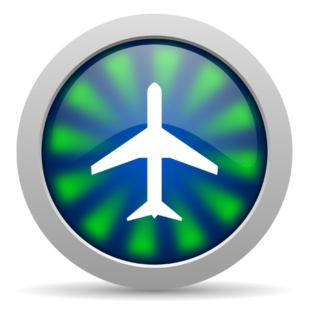 airplane icon Stock Photo - 15418177