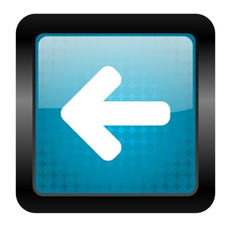 move arrow icon: arrow left icon Stock Photo