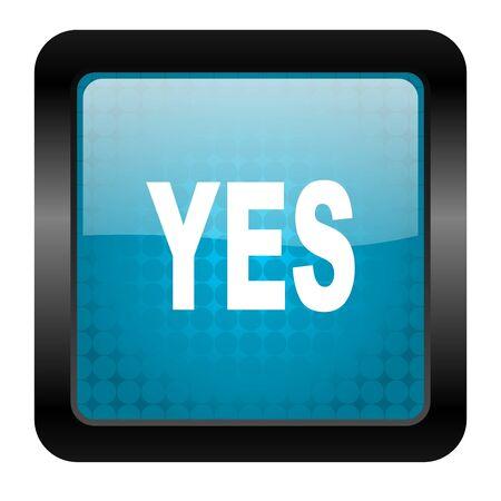yes icon Stock Photo - 15461919