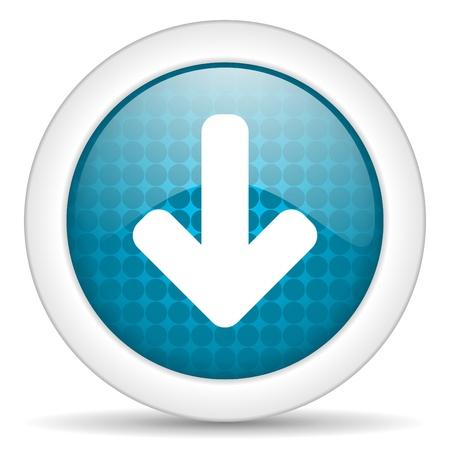 freccia giù: freccia gi� icona