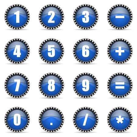 numeric icons set photo
