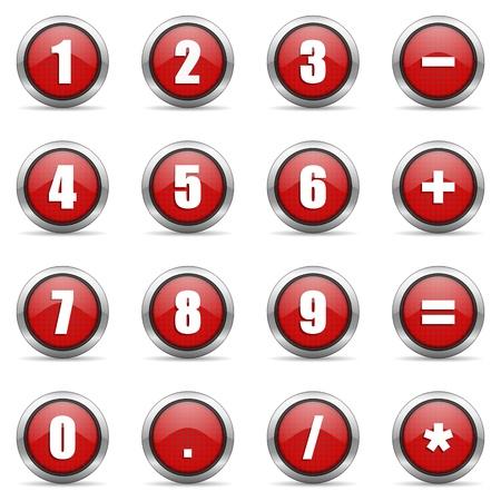 numeric: numeric icons set Stock Photo