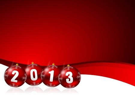 2013 new years illustration with christmas balls Stock Illustration - 15791137