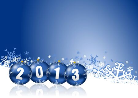 newyear: 2013 new years illustration with christmas balls Stock Photo