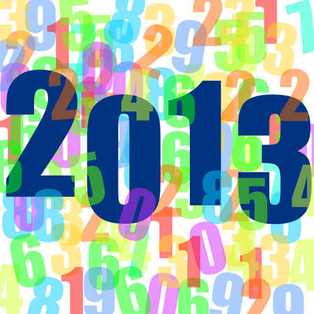 2013 new years illustration with numbers Stock Illustration - 15845177
