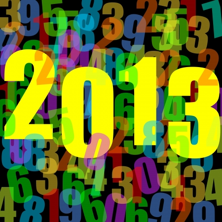 2013 new years illustration with numbers illustration