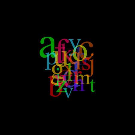 pastel alphabet illustration illustration