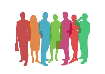business people colorful illustration Stock Illustration - 15845175