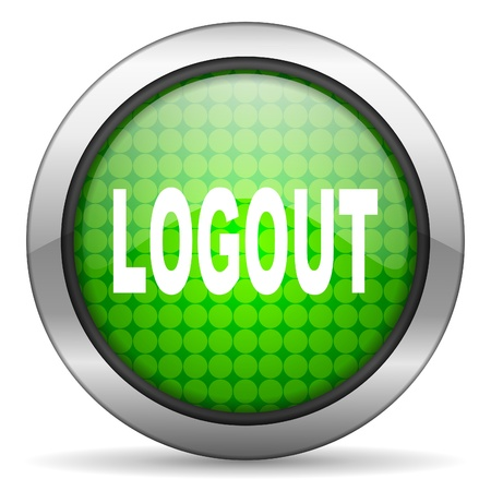 logout icon Stock Photo - 15926677
