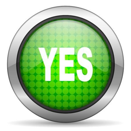 yes icon Stock Photo - 15926648
