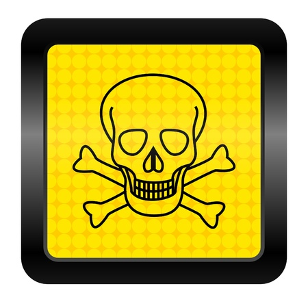 skull icon Stock Photo - 15926500