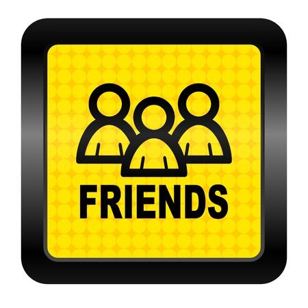 friends icon Stock Photo - 15926258