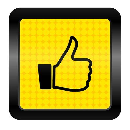 thumb up icon Stock Photo - 15925932
