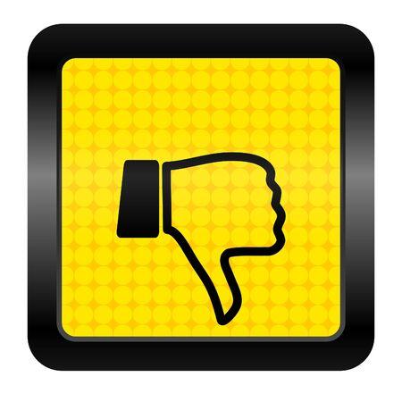 pulgar abajo: el pulgar hacia abajo icono Foto de archivo