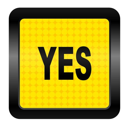yes icon Stock Photo - 15925892