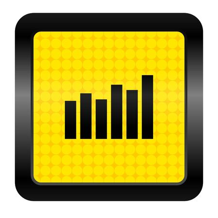 bar graph icon Stock Photo - 15925684