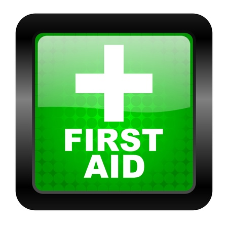 navigation aid: first aid icon  Stock Photo