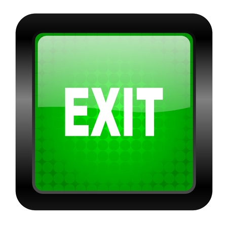 exit icon Stock Photo - 15950243