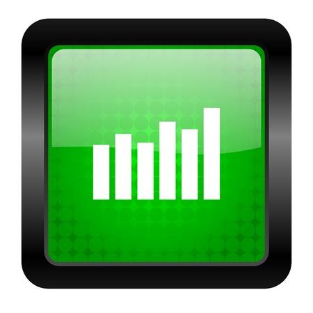 bar graph icon Stock Photo - 15949870