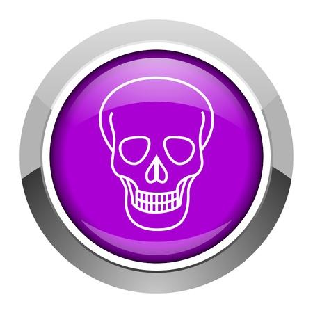 skull icon Stock Photo - 15951409