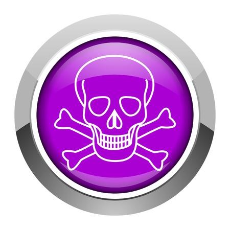 skull icon Stock Photo - 15951412