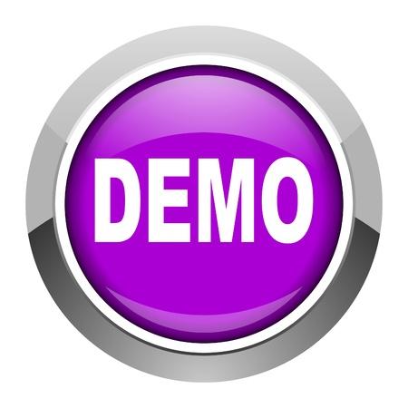 demo: demo icon  Stock Photo