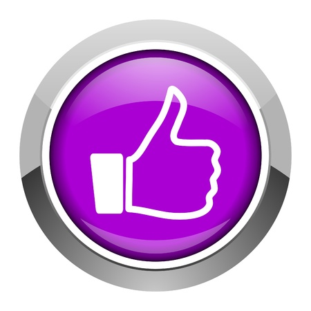yes button: thumb up icon