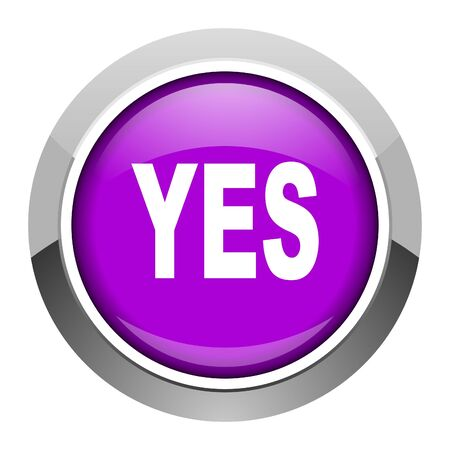 yes icon Stock Photo - 15949907