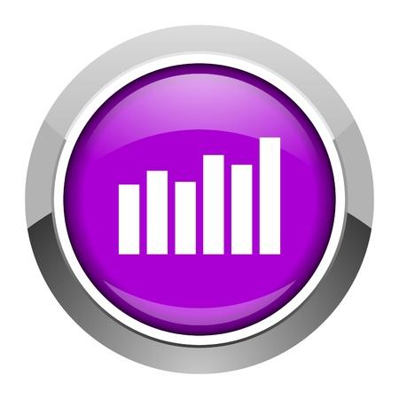 bar graph icon Stock Photo - 15949801