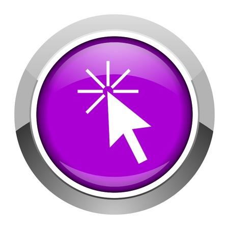 click here icon Stock Photo - 15949908