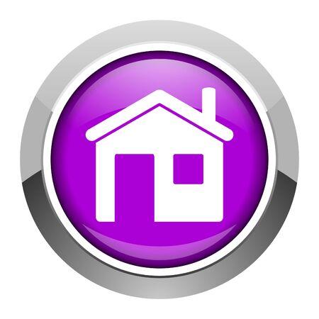 steel icon: home icon Stock Photo