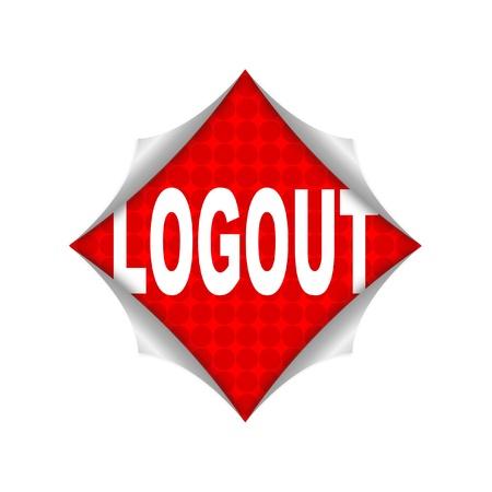 logout: logout icon  Stock Photo
